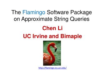 The  Flamingo  Software Package on Approximate String Queries