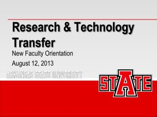 Research & Technology Transfer