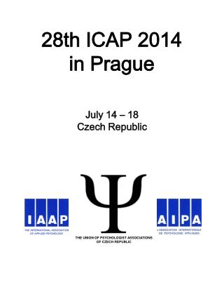 28th ICAP 2014 in Prague