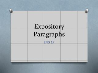 Expository Paragraphs