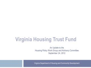 Virginia Housing Trust Fund