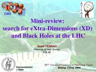 Mini-review:  search for eXtra-Dimensions (XD)  and Black Holes at the LHC