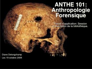 ANTHE 101: Anthropologie Forensique