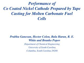 Performance of Co Coated Nickel Cathode Prepared by Tape Casting for Molten Carbonate Fuel Cells