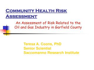 Community Health Risk Assessment