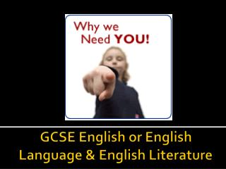 GCSE English or English Language & English Literature