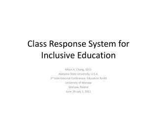 Class Response System for Inclusive Education
