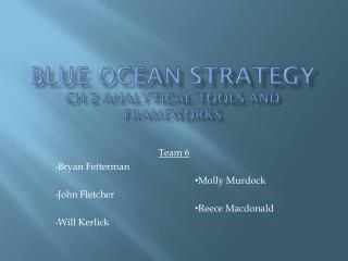 BLUE Ocean strategy ch  2 Analytical Tools and Frameworks