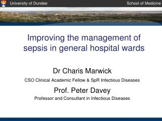 Improving the management of sepsis in general hospital wards