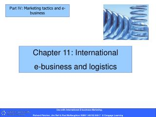 Chapter 11: International  e-business and logistics