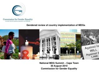 Gendered review of country implementation of MDGs