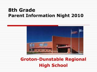 8th Grade Parent Information Night 2010