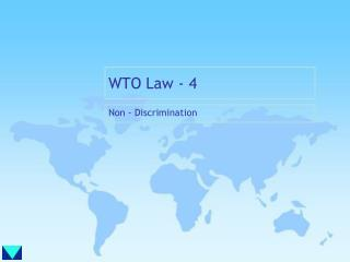WTO Law - 4