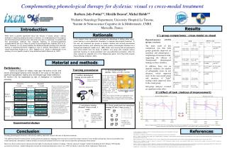 Complementing phonological therapy for dyslexia: visual vs cross-modal treatment