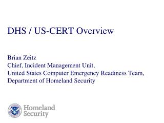 DHS / US-CERT Overview