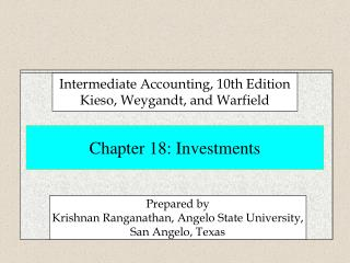 Chapter 18: Investments