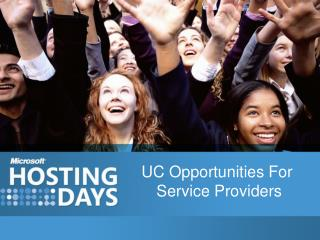 UC Opportunities For  Service Providers
