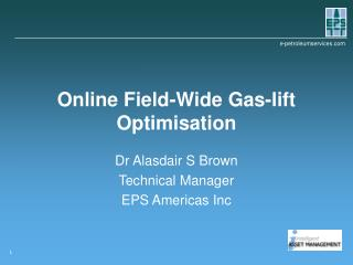 Online Field-Wide Gas-lift Optimisation