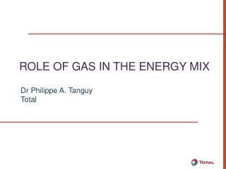 Role  of  Gas  in the  Energy  Mix