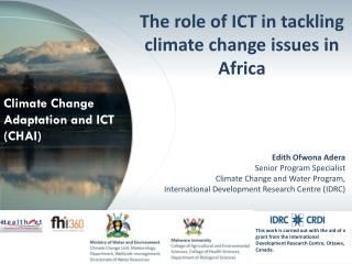 Climate Change Adaptation and ICT (CHAI)