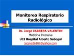 Monitoreo Respiratorio Radiol gico