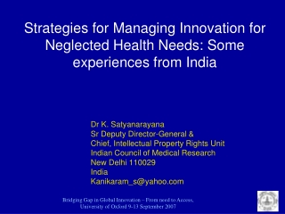 Training and Advocacy  in India