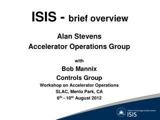 ISIS -  brief overview