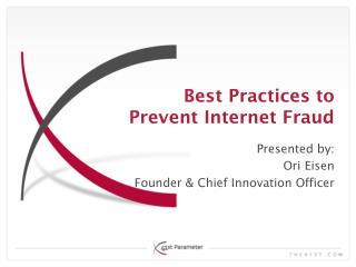 Best Practices to Prevent Internet Fraud