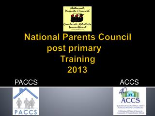 National Parents Council post primary	  Training    2013