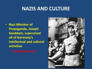 NAZIS AND CULTURE