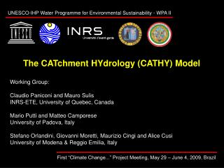 The CATchment HYdrology (CATHY) Model