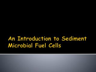 An Introduction to Sediment Microbial Fuel Cells