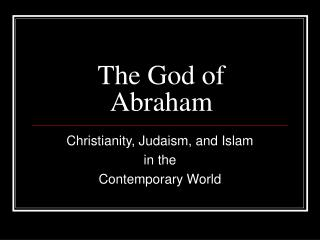 The God of Abraham