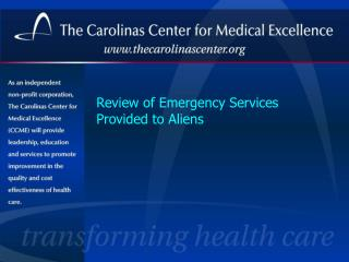 Review of Emergency Services Provided to Aliens