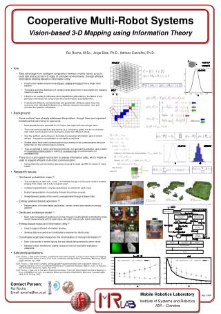 Cooperative Multi-Robot Systems Vision-based 3-D Mapping using Information Theory