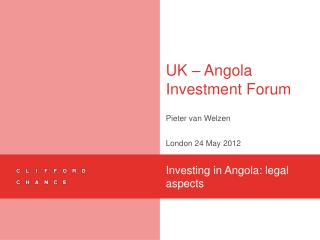 UK – Angola Investment Forum