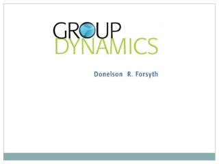 1 Introduction to Group Dynamics