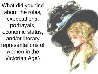 What did you find about the roles, expectations, portrayals, economic status, and/or literary representations of women