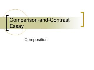 Comparison-and-Contrast Essay