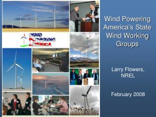 Wind Powering America's State Wind Working Groups