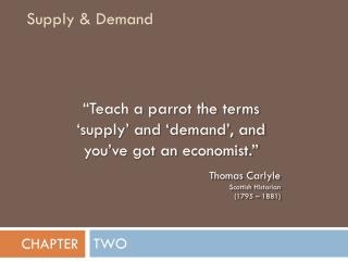 Supply & Demand