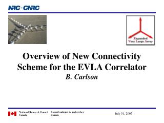 Overview of New Connectivity Scheme for the EVLA Correlator B. Carlson
