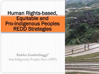 Human Rights-based, Equitable and  Pro-Indigenous Peoples REDD Strategies