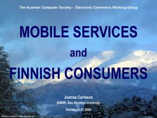 MOBILE SERVICES and FINNISH CONSUMERS