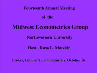 Fourteenth Annual Meeting