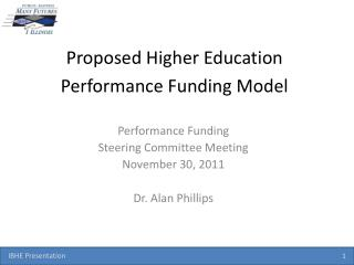 Proposed  Higher Education Performance Funding Model