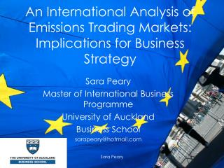 An International Analysis of Emissions Trading Markets: Implications for Business Strategy