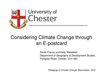 Considering Climate Change through an E-postcard