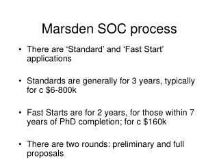 Marsden SOC process