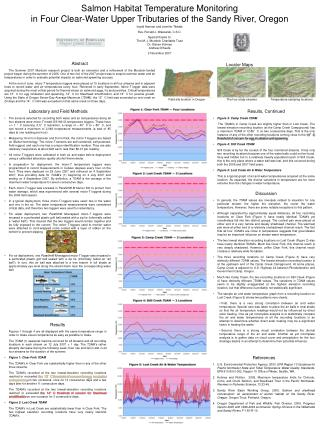 Salmon Habitat Temperature Monitoring in Four Clear-Water Upper Tributaries of the Sandy River, Oregon